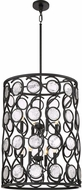 Quoizel JBE5208K Jubilee Modern Mystic Black 22  Drum Pendant Lighting