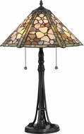 Quoizel JD2077TVB Jade Portable Tiffany Vintage Bronze Lighting Table Lamp