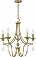 Quoizel JOU5025AB Joules Traditional Aged Brass Chandelier Lighting