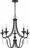 Quoizel JOU5025PN Joules Traditional Palladian Bronze Lighting Chandelier
