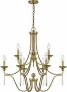 Quoizel JOU5032AB Joules Traditional Aged Brass Chandelier Lamp