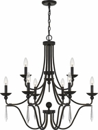 Quoizel JOU5032PN Joules Traditional Palladian Bronze Chandelier Light