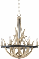 Quoizel JR5006EK Journey Rustic Earth Black Ceiling Chandelier