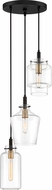 Quoizel JUN2503EK June Contemporary Earth Black Multi Lighting Pendant