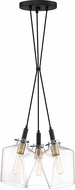 Quoizel JUN2603EK June Modern Earth Black Multi Pendant Lamp
