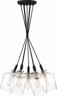 Quoizel JUN2607EK June Contemporary Earth Black Multi Hanging Lamp