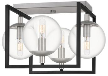 Quoizel KAN1717EK Kane Modern Earth Black Overhead Light Fixture