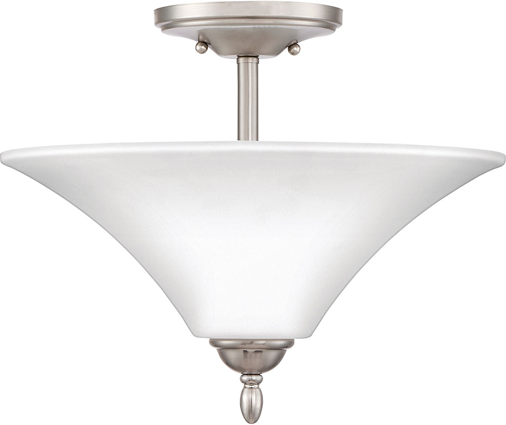 Quoizel Kgf1715bn Kingfield Brushed Nickel Flush Mount Lighting Fixture Loading Zoom