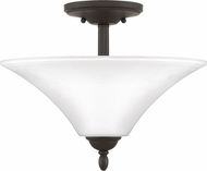 Quoizel KGF1715OZ Kingfield Old Bronze Flush Ceiling Light Fixture