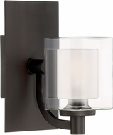 Quoizel KLT8601WTLED Kolt Contemporary Western Bronze LED Wall Light Sconce
