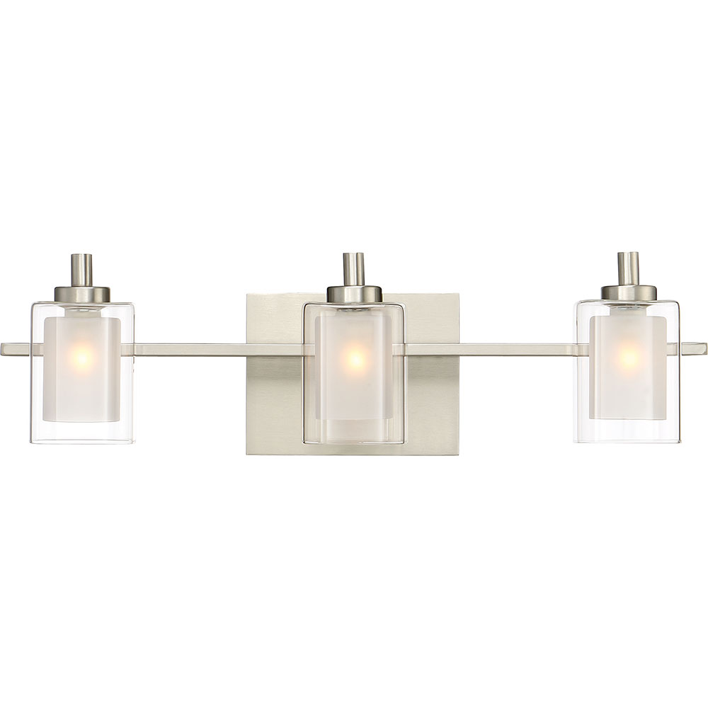 Quoizel Klt8603bnled Kolt Modern Brushed Nickel Led 3 Light Vanity Fixture Loading Zoom