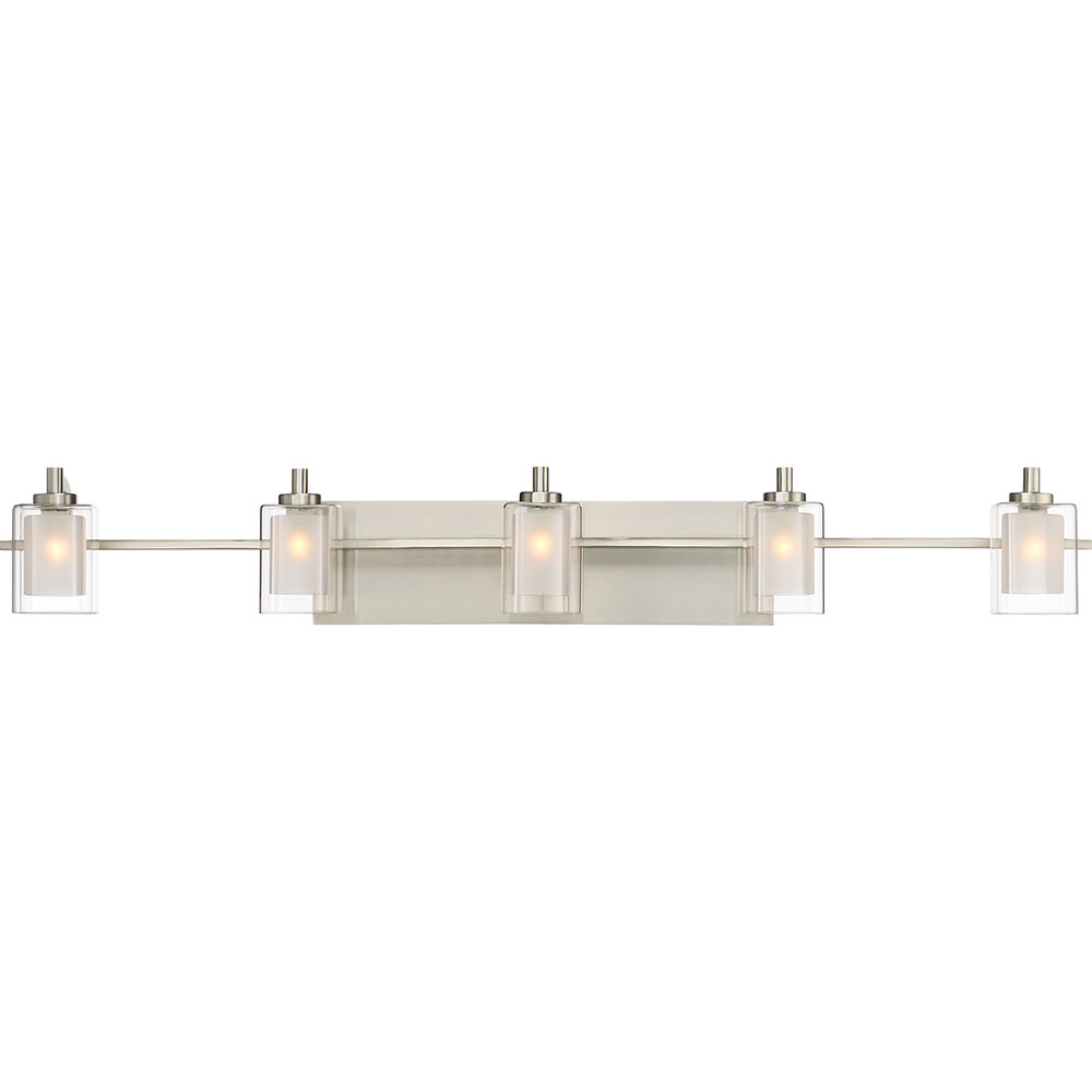 Quoizel Klt8605bnled Kolt Modern Brushed Nickel Led 5 Light Bathroom Vanity Fixture