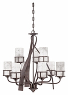 Quoizel KY5009IN Kyle Transitional 2 Tier 35 Inch Diameter Lighting Chandelier - Iron Gate