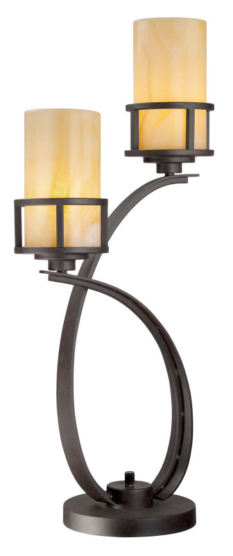 Quoizel Ky6328ib Kyle Imperial Bronze 2 Lamp 30 Inch Tall Table Loading Zoom