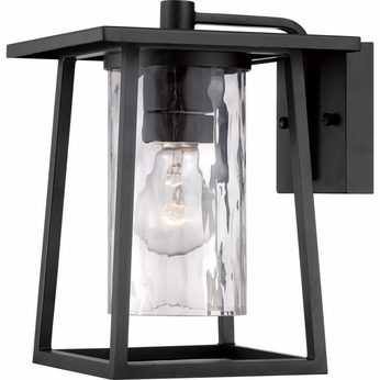 Quoizel LDG8408K Lodge Mystic Black Finish 8  Wide Outdoor Wall Sconce Light