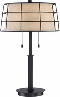 Quoizel LND6326MC Landings Mottled Cocoa Table Lighting
