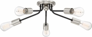 Quoizel LTT1628EK Latitude Modern Earth Black Flush Mount Ceiling Light Fixture