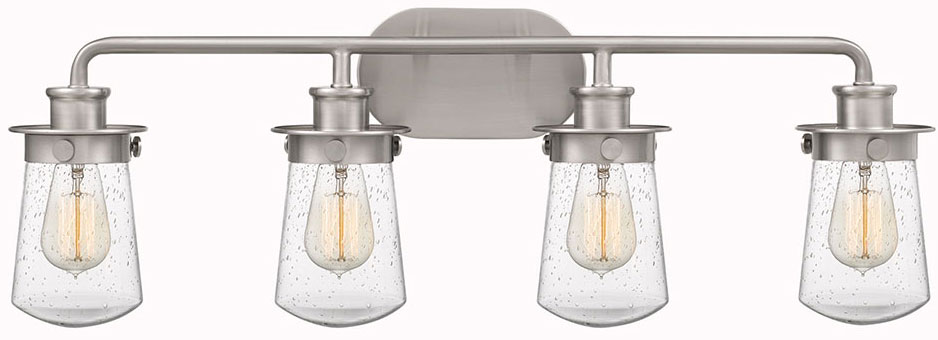 Quoizel Lwn8604bn Lewiston Modern Brushed Nickel 4 Light Bathroom Vanity Light Fixture Quo Lwn8604bn