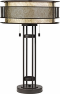 Quoizel MC4048WT Landsdowne Western Bronze Table Top Lamp
