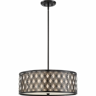 Quoizel MCBQ2822K Boutique Mystic Black 22  Drum Hanging Light Fixture