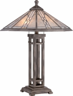 Quoizel MCCS6326AS Cyrus Tiffany Anniversary Silver Table Lighting