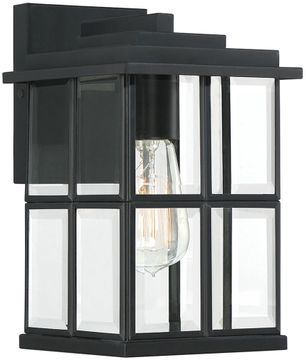 Quoizel MGN8406MBK Mulligan Modern Matte Black Outdoor 6.5  Lighting Sconce
