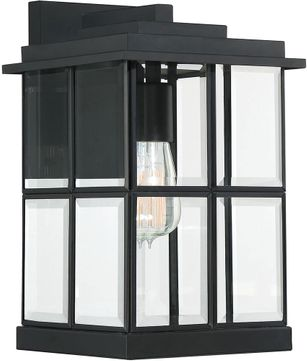 Quoizel MGN8408MBK Mulligan Contemporary Matte Black Exterior 8  Lamp Sconce