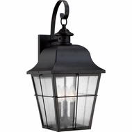 Quoizel MHE8410K Millhouse Traditional Mystic Black Finish 22  Tall Outdoor Sconce Lighting