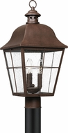 Quoizel MHE9010CU Millhouse Traditional Copper Bronze Exterior Lamp Post Light