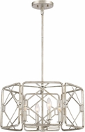 Quoizel MIS2820RB Mission Contemporary Rubbed Silver Pendant Lighting Fixture