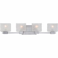 Quoizel MLD8604BN Melody Contemporary Brushed Nickel Finish 33  Wide 4 Light Bathroom Vanity Light Fixture