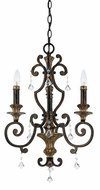 Quoizel MQ5003HL Marquette Heirloom 3 Light Chandelier with Crystal Drops
