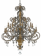 Quoizel MQ5020HL Marquette Traditional Candelabra Large 20 Light Decorative Chandelier
