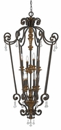 Quoizel MQ5208HL Marquette Heirloom Foyer Lighting Fixture with Crystal Drops