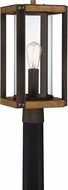 Quoizel MSQ9009RK Marion Square Rustic Black Exterior Post Lighting Fixture