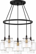 Quoizel NAO5005EK Naomi Modern Earth Black Multi Pendant Light