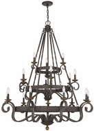 Quoizel NBE5018RK Nble Rustic Black Lighting Chandelier