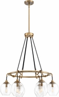 Quoizel NGA5006WS Nostalgia Modern Weathered Brass Chandelier Light