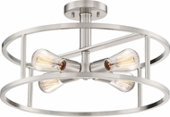 Quoizel NHR1718BN New Harbor Contemporary Brushed Nickel 18  Flush Mount Lighting Fixture