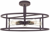 Quoizel NHR1720WT New Harbor Contemporary Western Bronze Ceiling Light