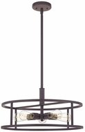 Quoizel NHR2820WT New Harbor Contemporary Western Bronze Drop Lighting Fixture