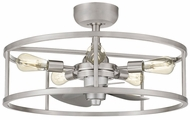 Quoizel NHR3124BN New Harbor Modern Brushed Nickel Ceiling Light Fixture