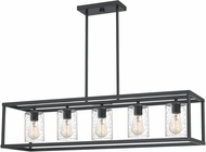 Quoizel NHR3538OZ New Harbor Contemporary Old Bronze Kitchen Island Lighting