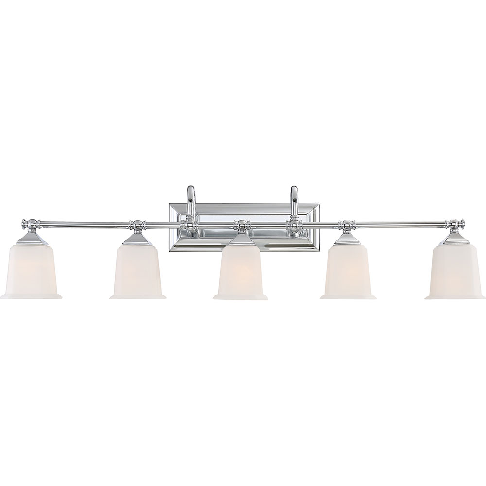 Quoizel NL8605C Nicholas Contemporary Polished Chrome 5 Light Bathroom Light  Sconce. Loading Zoom