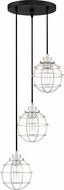Quoizel NVG2703EK Navigator Modern Earth Black Multi Hanging Pendant Light