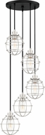 Quoizel NVG2705EK Navigator Contemporary Earth Black Multi Pendant Hanging Light