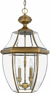 Quoizel NY1180A Newbury Antique Brass Outdoor 16  Pendant Hanging Light