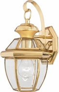 Quoizel NY8315B Newbury Polished Brass Outdoor 7  Wall Lighting Fixture