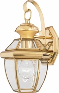 Quoizel NY8315B Newbury Polished Brass Outdoor 7  Wall Lighting