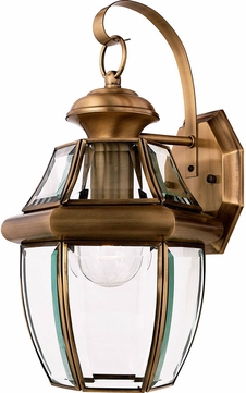 Quoizel NY8316A Newbury Antique Brass Outdoor 8  Wall Sconce